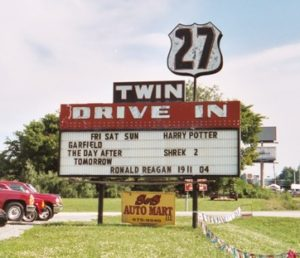 21 Twin Drive-In marquee