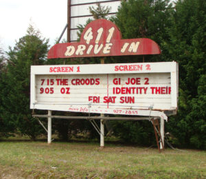 411 Drive-In sign