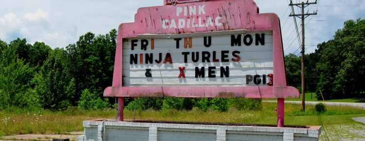 Pink Cadillac Drive-In sign