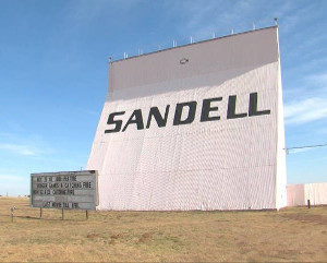 Sandell marquee and back of its screen