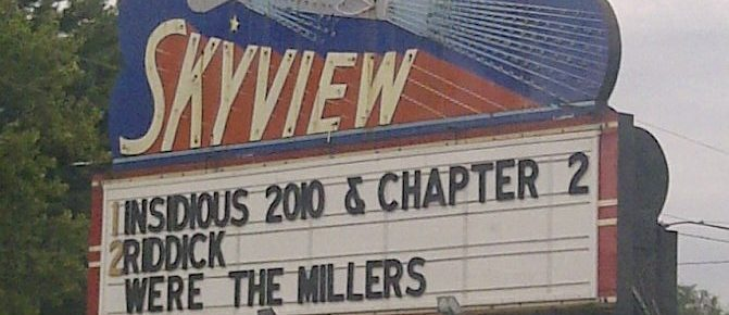 Skyview Drive-In marquee