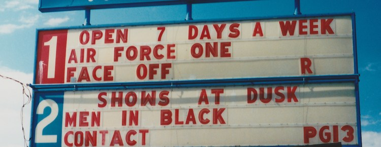 Holiday Twin Drive-In marquee