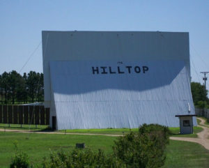 Back of the Hilltop Drive-In screen
