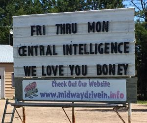Midway Drive-In marquee