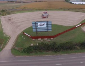 Aerial photo of the entire Pheasant City Drive-in lot
