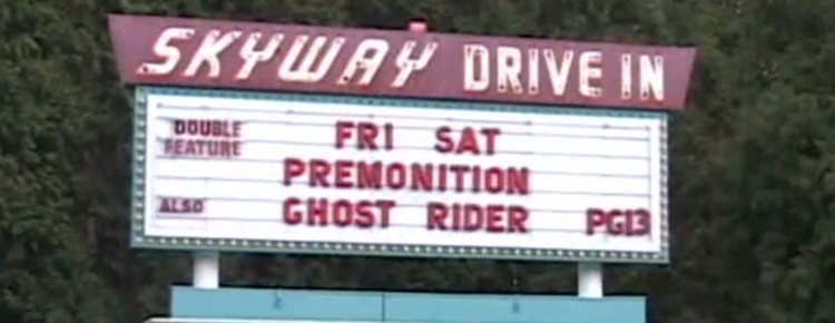 Skyway Drive-In marquee