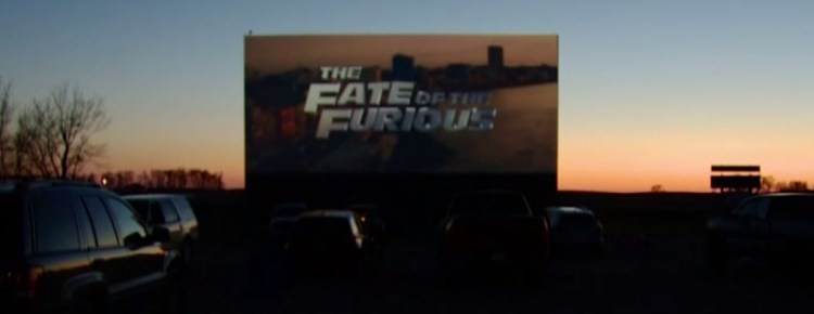 Superior 71 Drive-In at sunset