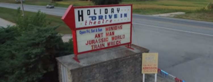 Holiday Drive-In marquee