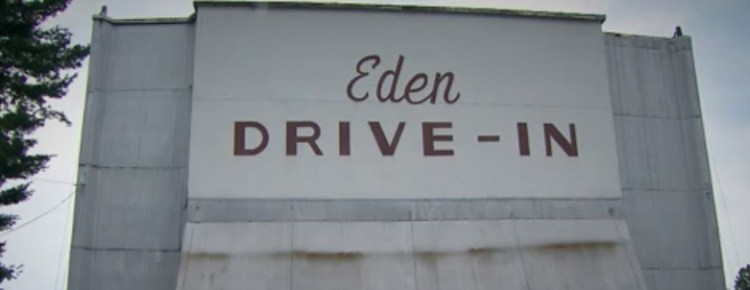 Back of the Eden Drive-in screen
