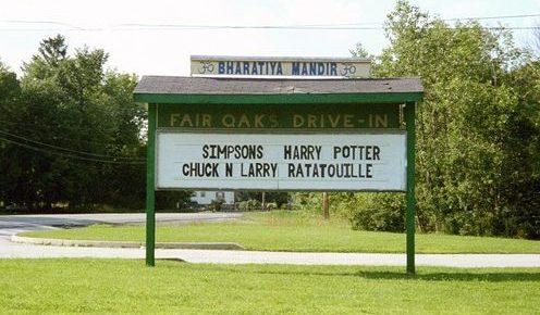 Fair Oaks Drive-In marquee