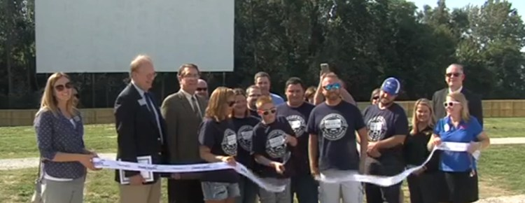 Ribbon-cutting for the Moon Lite Drive-In Theater