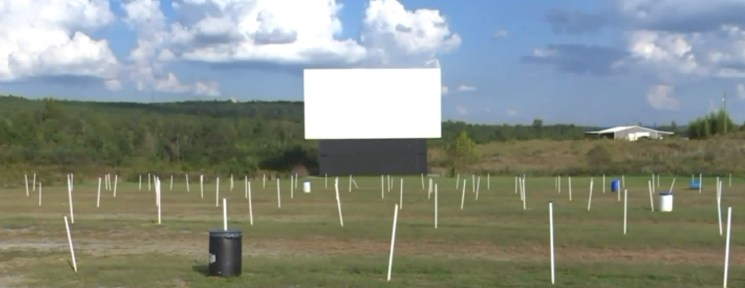 Henagar Drive-In screen during the day