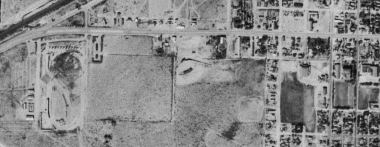 USGS aerial photo of Tucumcari NM from 1954