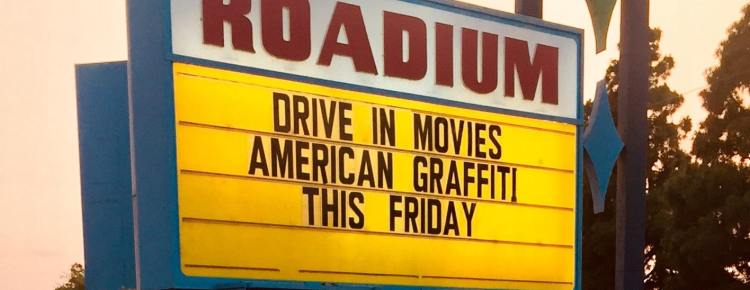 Roadium Drive-In marquee