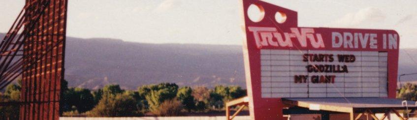 Tru-Vu Drive-In sign and screen