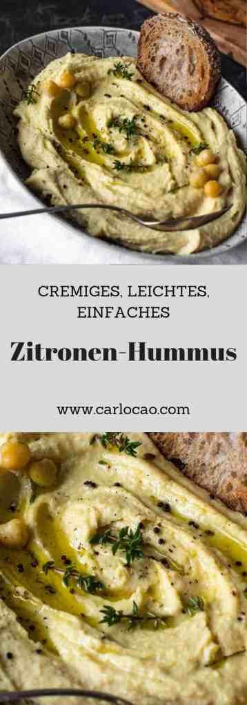 Cremiges, Leichtes, Einfaches Zitronen-Hummus
