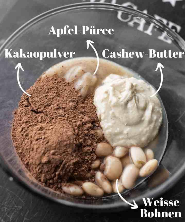Weisse Bohnen Brownies