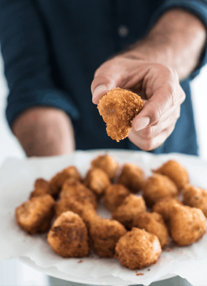 Fried Panko-Crusted Portobello Mushrooms