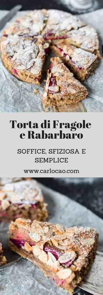 Torta di Fragole e Rabarbaro