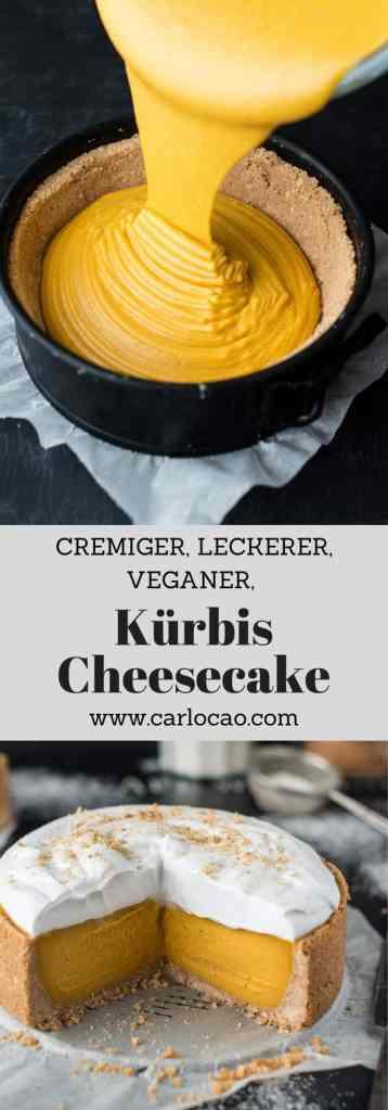 veganer Kürbis-Cheesecake