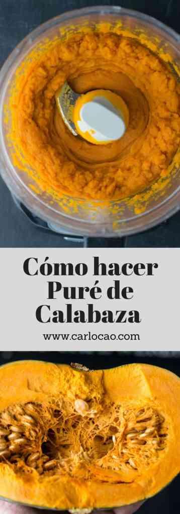 Cómo hacer puré de Calabaza casero