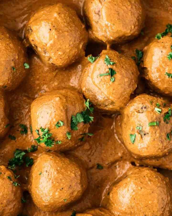 Albóndigas de Verduras con salsa Tikka Masala
