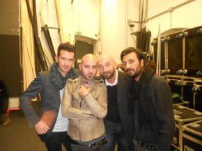 Negramaro backstage Petruzzelli