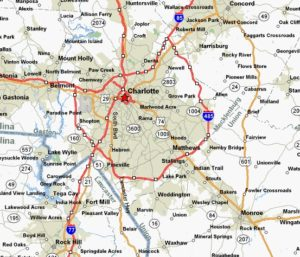 charlotte north carolina map