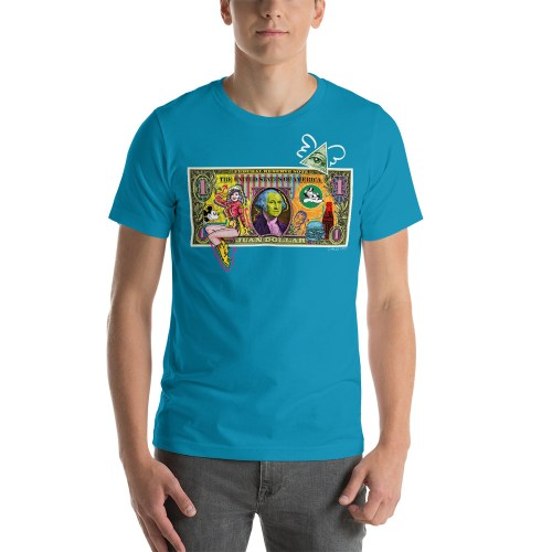 Juan Dollar unisex t-shirt blue