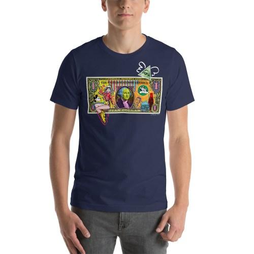Juan Dollar unisex t-shirt navy blue