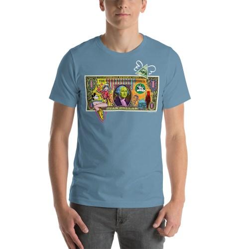 Juan Dollar unisex t-shirt light blue