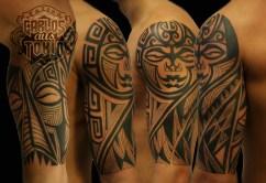 polynesian mask tattoo