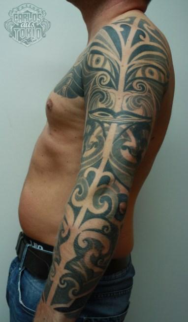 maori mask tattoo1