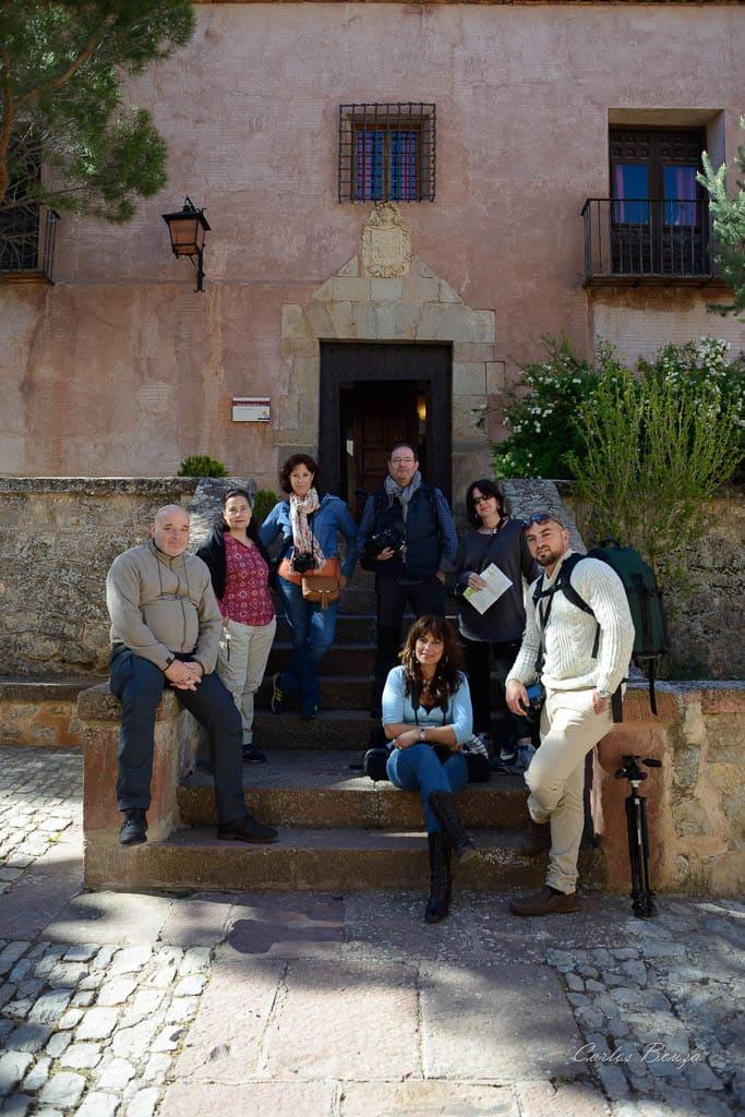 Grupo que asistió al taller de fotografia nocturna en Albarracín.