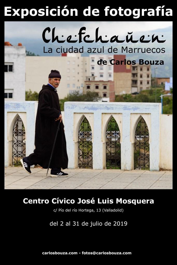 Exposición de fotografía -Chefchauen, la ciudad azul de Marruecos- de Carlos Bouza en Valladolid