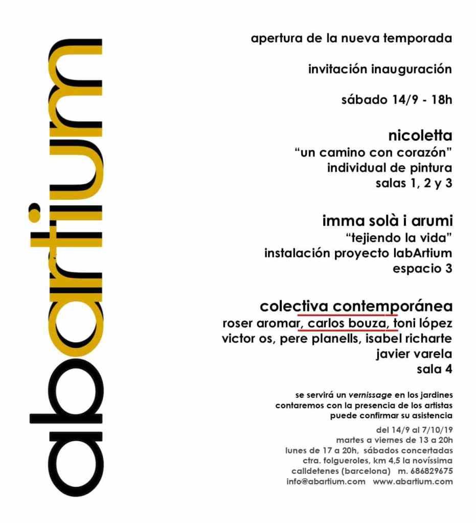 Muestra Colectiva Contemporánea en Galería Abartiuym de Barcelona