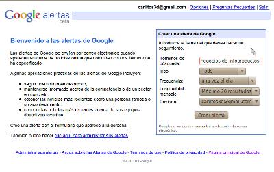 alertas google monitoreo redes sociales