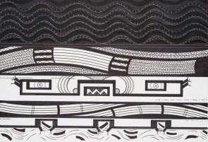 Yarará. Tinta y marcador sobre papel. 38 X 45 cm. 2015