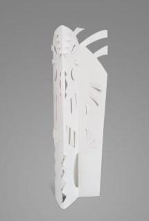 Escultura en papel No 8. 27,5 cm x 10 cm x 5,5 cm