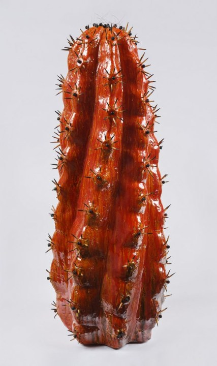 Cactus 10 . 50 cm x 20 cm x 20 cm. Cerámica