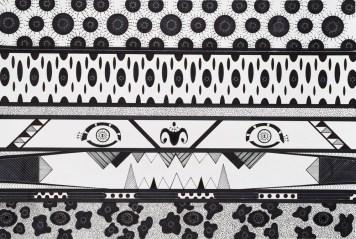 Yaguareté. Tinta y marcador sobre papel. 37,5 x 45 cm.