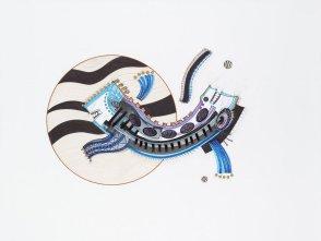 Tinta, marcador y corrector sobre papel. 60 cm. x 80 cm. 2015