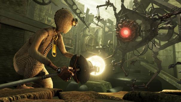 9 battles the terrifying Fabrication Machine in a bleak post-apocalyptic world.