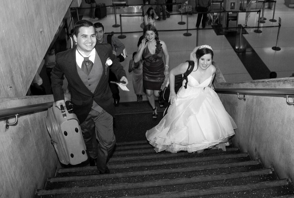 A blazing-fast wedding