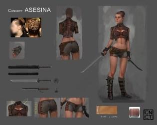 Concept ASESINA - Carta de Personaje - Carlos NCT