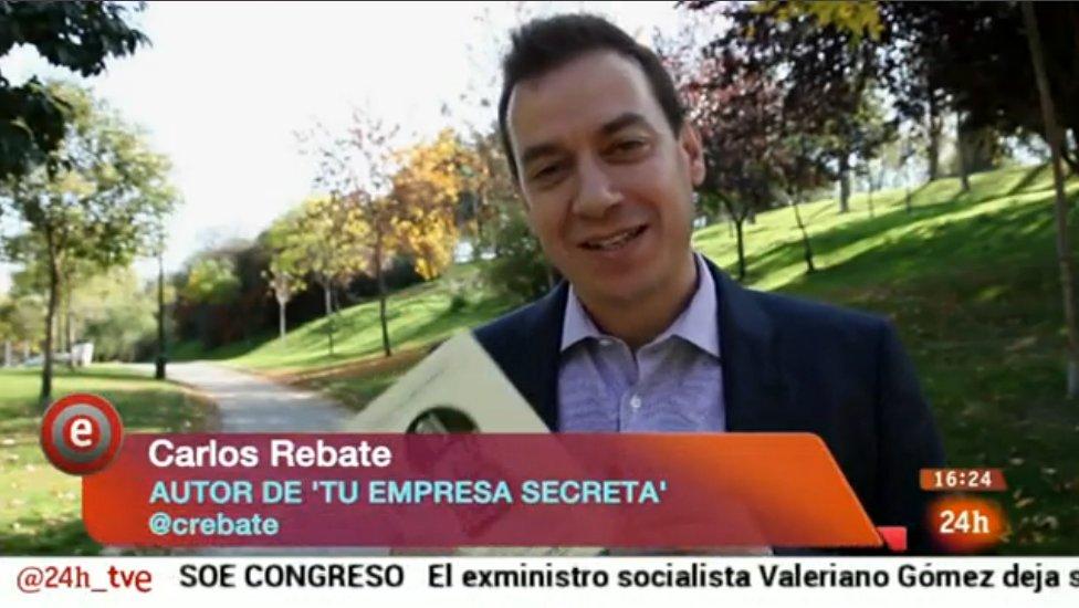 Carlos Rebate en TVE