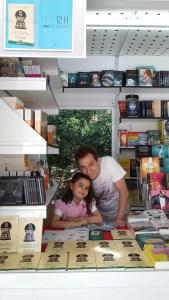 Feria del libro con Lucía