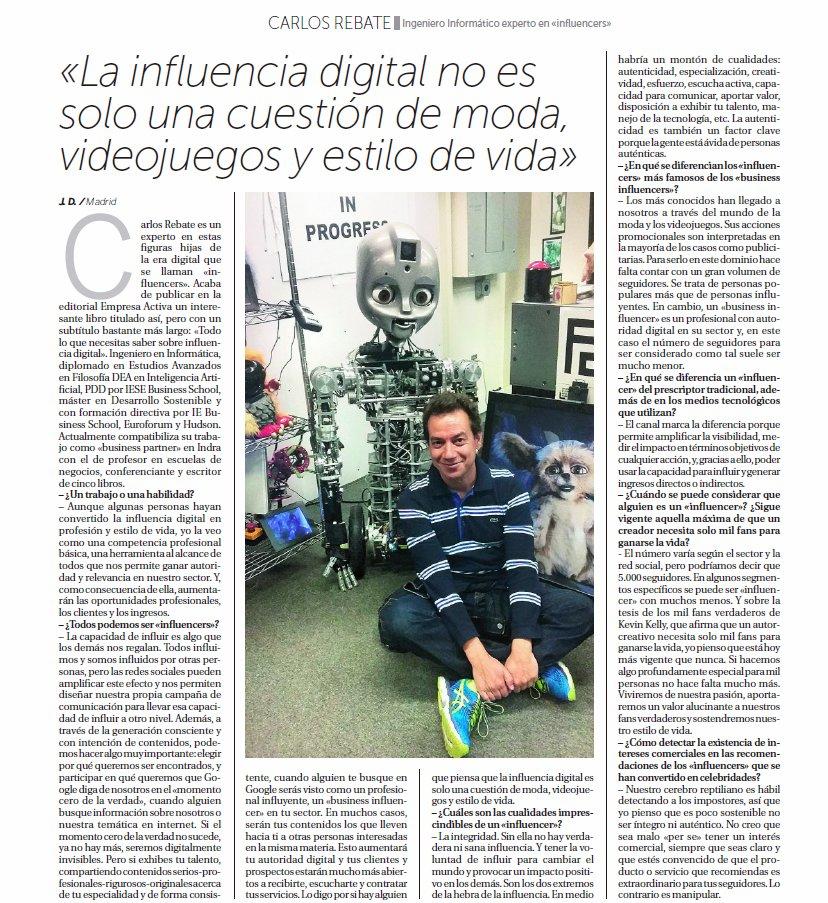 La Razón Entrevista Carlos Rebate