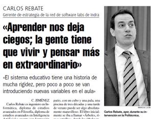 Carlos Rebate La Nueva España
