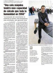 La Nueva España y Carlos Rebate